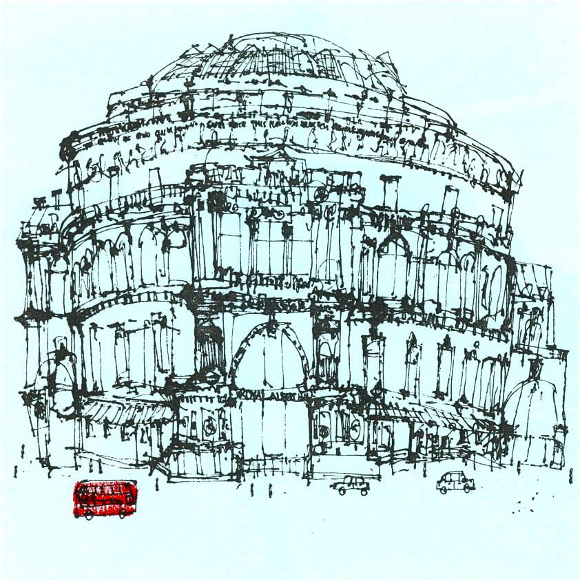 Clare Caulfield Royal Albert Hall & London Red Bus_clare_caulfield.jpg