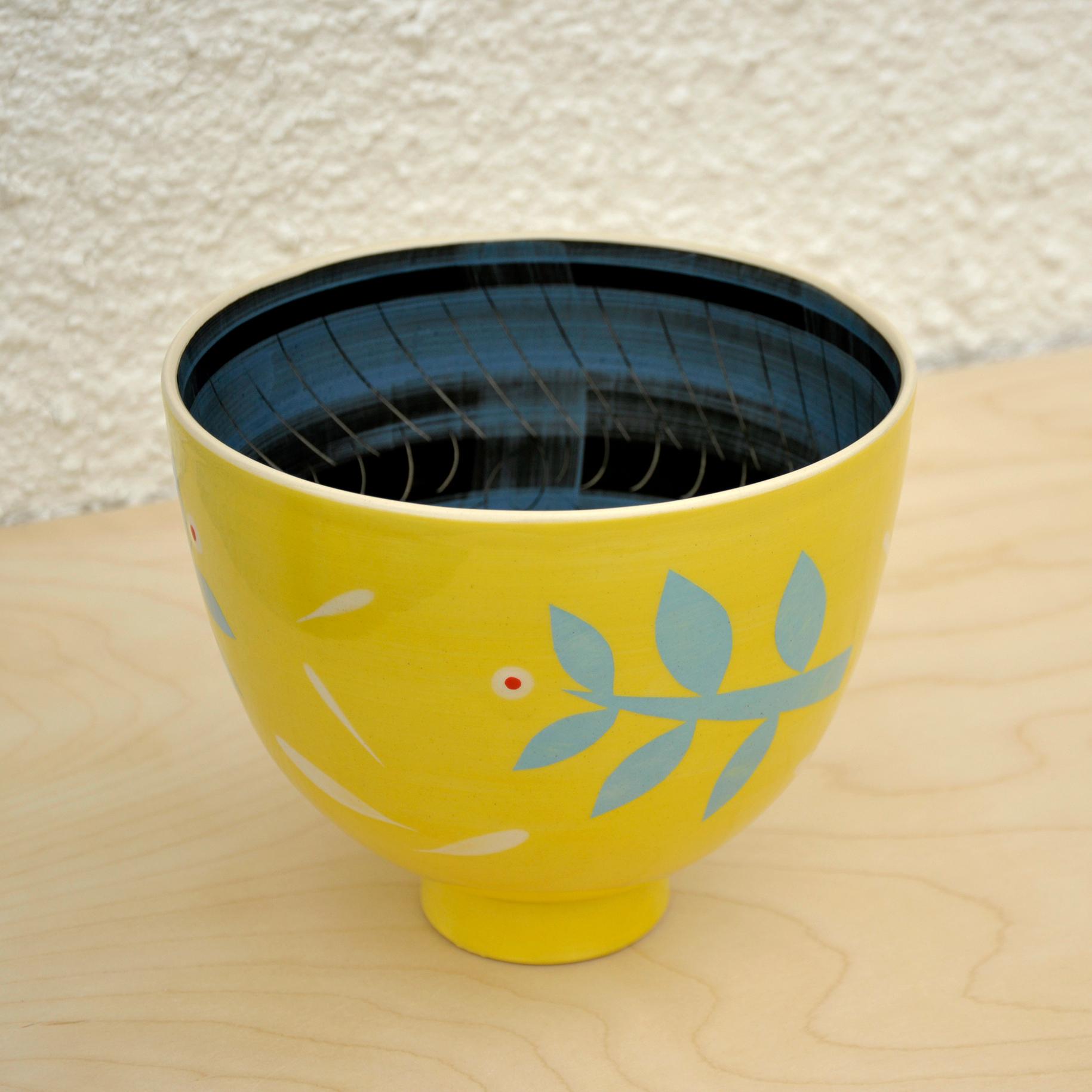 medium yellow bulb bowl