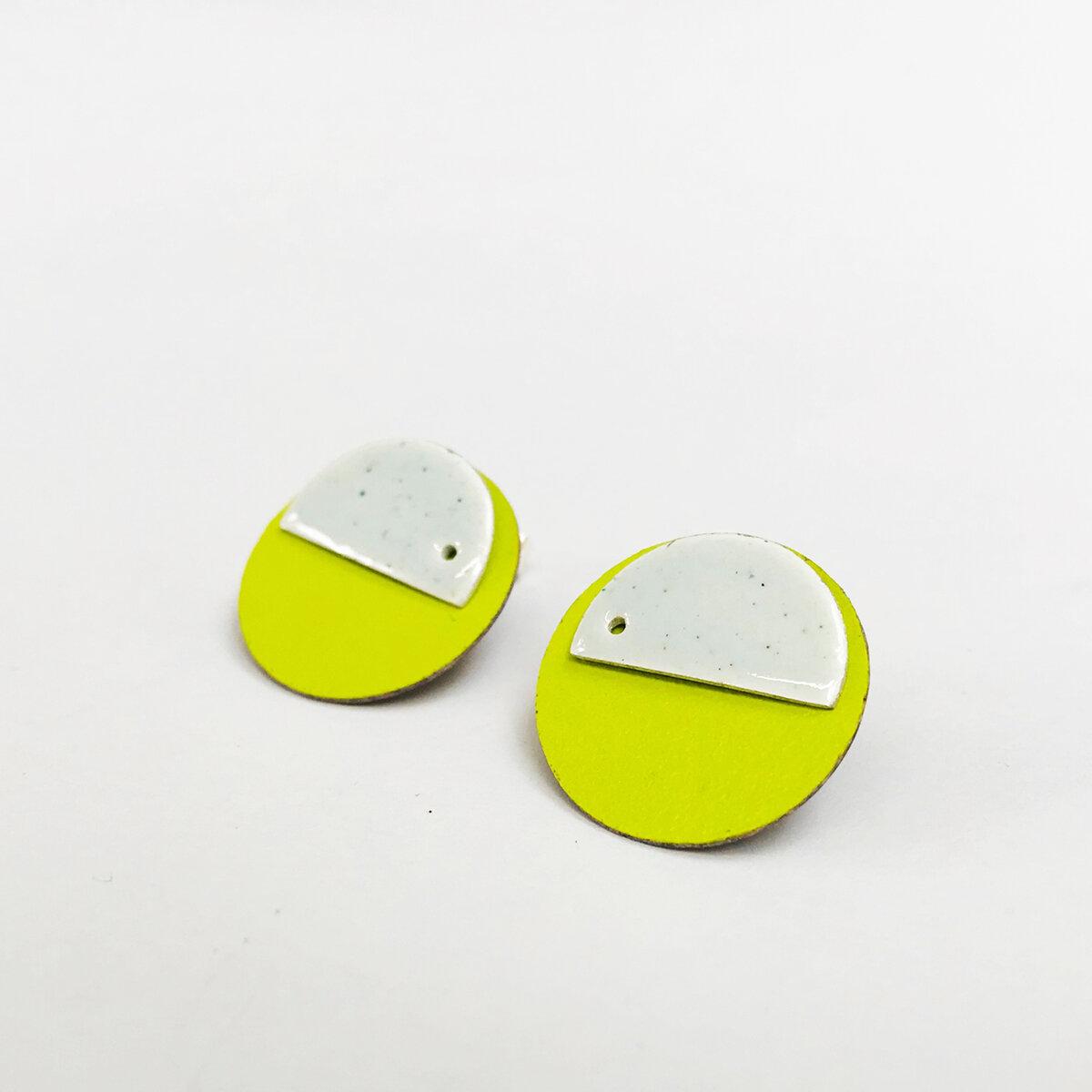 Lime and White Spot Earrings.jpg