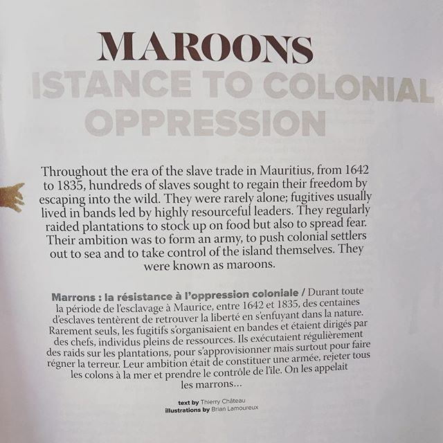 Read this fantastic article about the Mauritian Maroons yesterday... with the most haunting illustrations