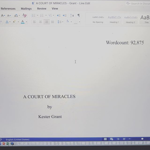 All done with this round of edits!!!!!!!!!!!! 🎉🎉🎉#acourtofmiracles