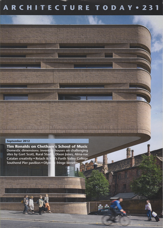 - Architecture Today, September 2012Chetham's School of Music, stephenson STUDIO