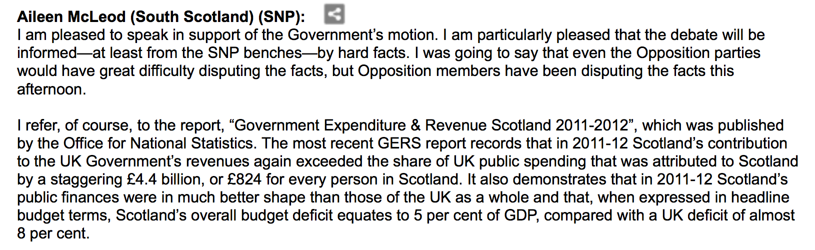 Aileen McLeod, SNP MSP, 21/03/2013