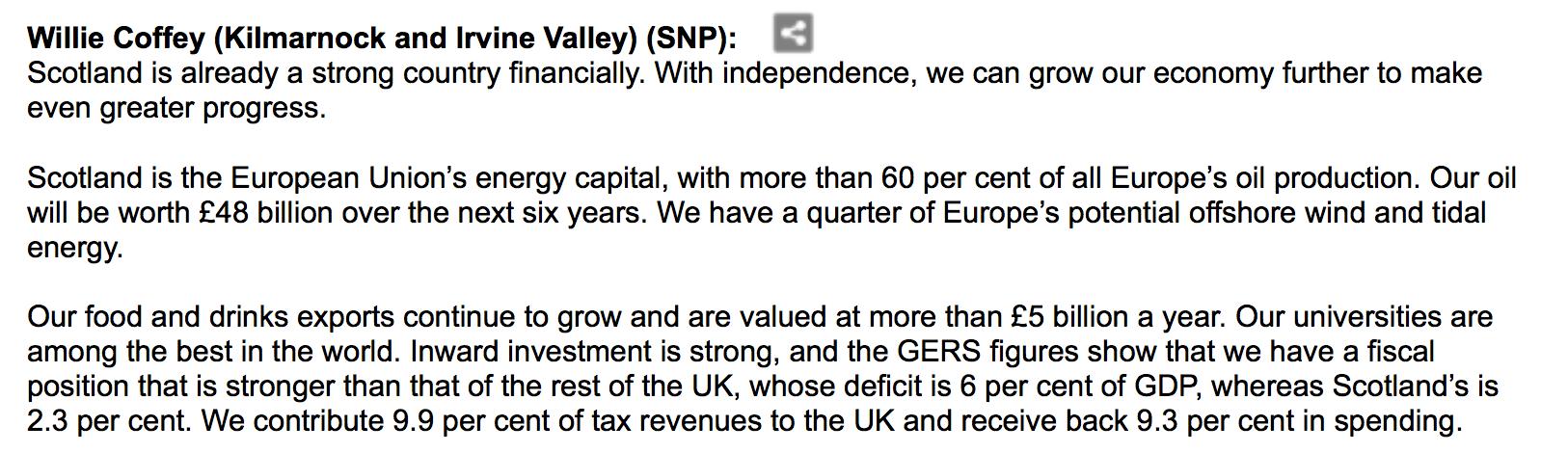 Willie Coffey, SNP MSP, 21/03/2013