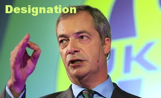 Former leader of the UK Independence Party (UKIP), Nigel Farage