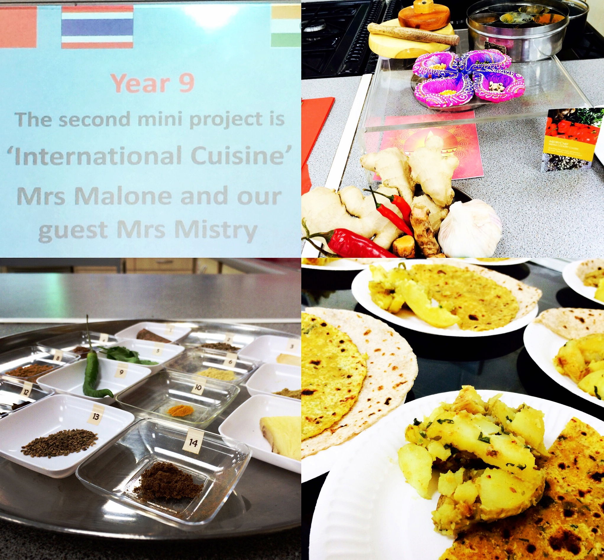 Sir Henry Floyd Grammar School - MistryChef has been visiting SHFGS for 3 years and assisting us with the delivery of our 'International Cuisine' project to over 450 students. She engages the students throughout the sessions. Using quizzes helps the students develop their knowledge on the benefits of using spices in foods and demonstrating the delicious potato curry & parathas for the students to taste. There are always a number of students who are apprehensive but once they have seen how straight forward the recipes are, they are hooked, and many have chosen to cook it in lessons. Her expertise in using traditional equipment is inspiring and I loved expanding my spice cupboard and utilising the wealth of knowledge she has shared on the health benefits of adding these colourful, aromatic ingredients.We are most grateful for her kind donations, particularly at the Christmas Fayre where her food warms us on the coldest of days.Mrs A MaloneFood & Nutrition, Sir Henry Floyd Grammar School
