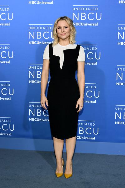 Kirsten Bell wearing Victoria Beckham