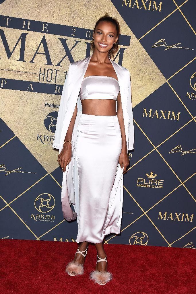 Model Jasmine Tookes wearing Bossa
