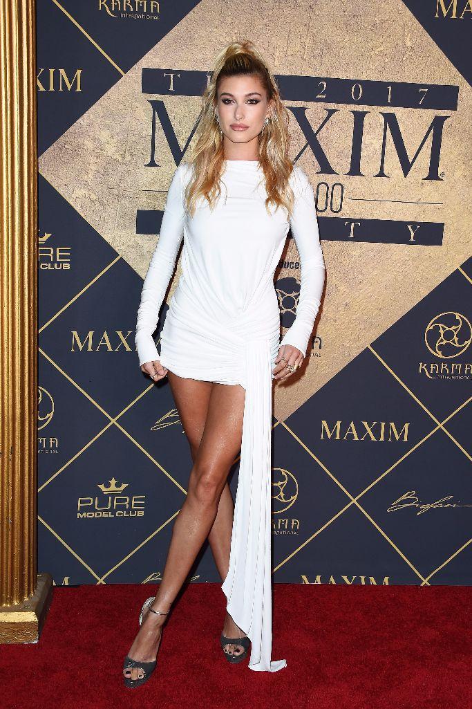 Hailey Baldwin wearing Alexandre Vauthier