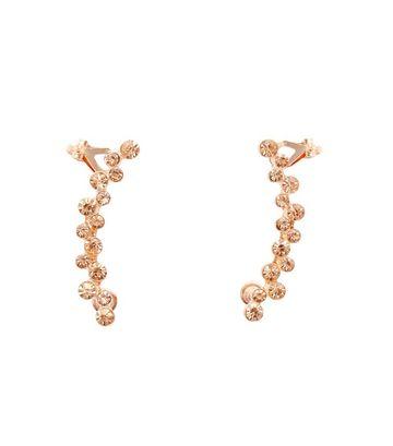 Rose gold crystal detail ear cuffs €6.99