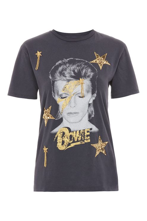 Bowie star sequin t-shirt