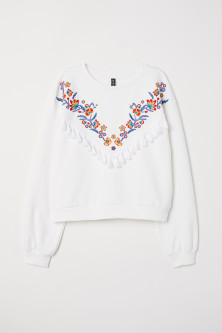 H&M sweatshirt with embroidery