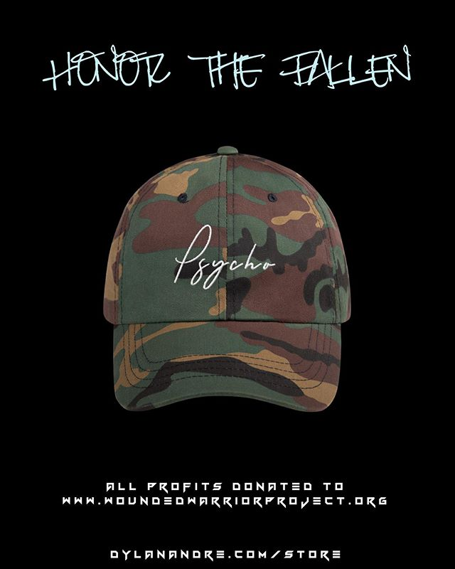 #HonorTheFallen with $10.00 off the Artillery #Psycho Dad Cap | All profits donated to @wwp #LinkInBio #Psychology