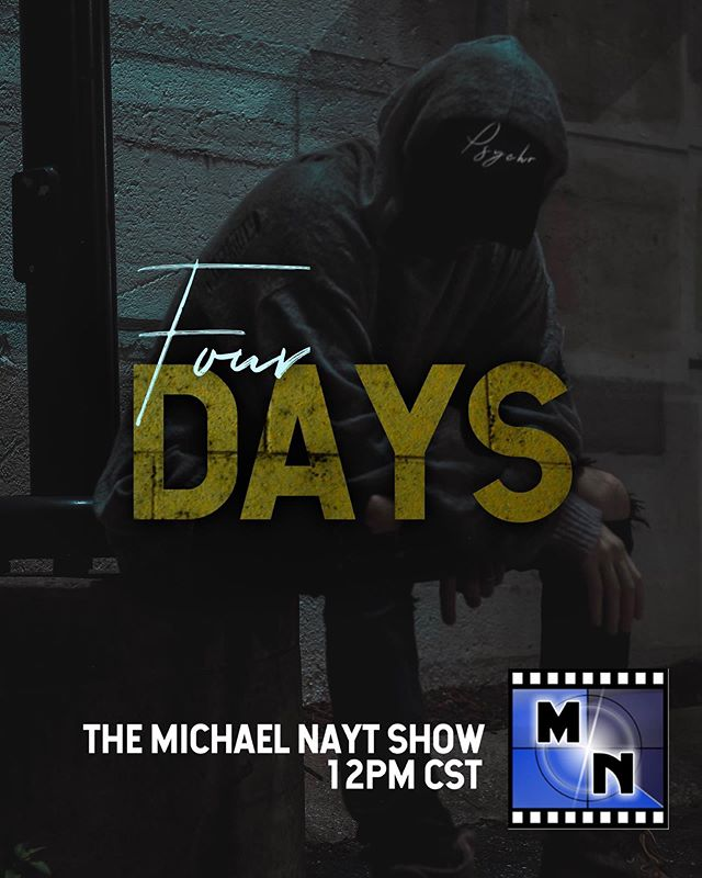 Just days away from #PsychoTheory I'll be sitting down for a special edition of The Michael NAYT Show on June 1st at 12PM CST to talk about #PsychoTheory tune in on @Apple Podcasts