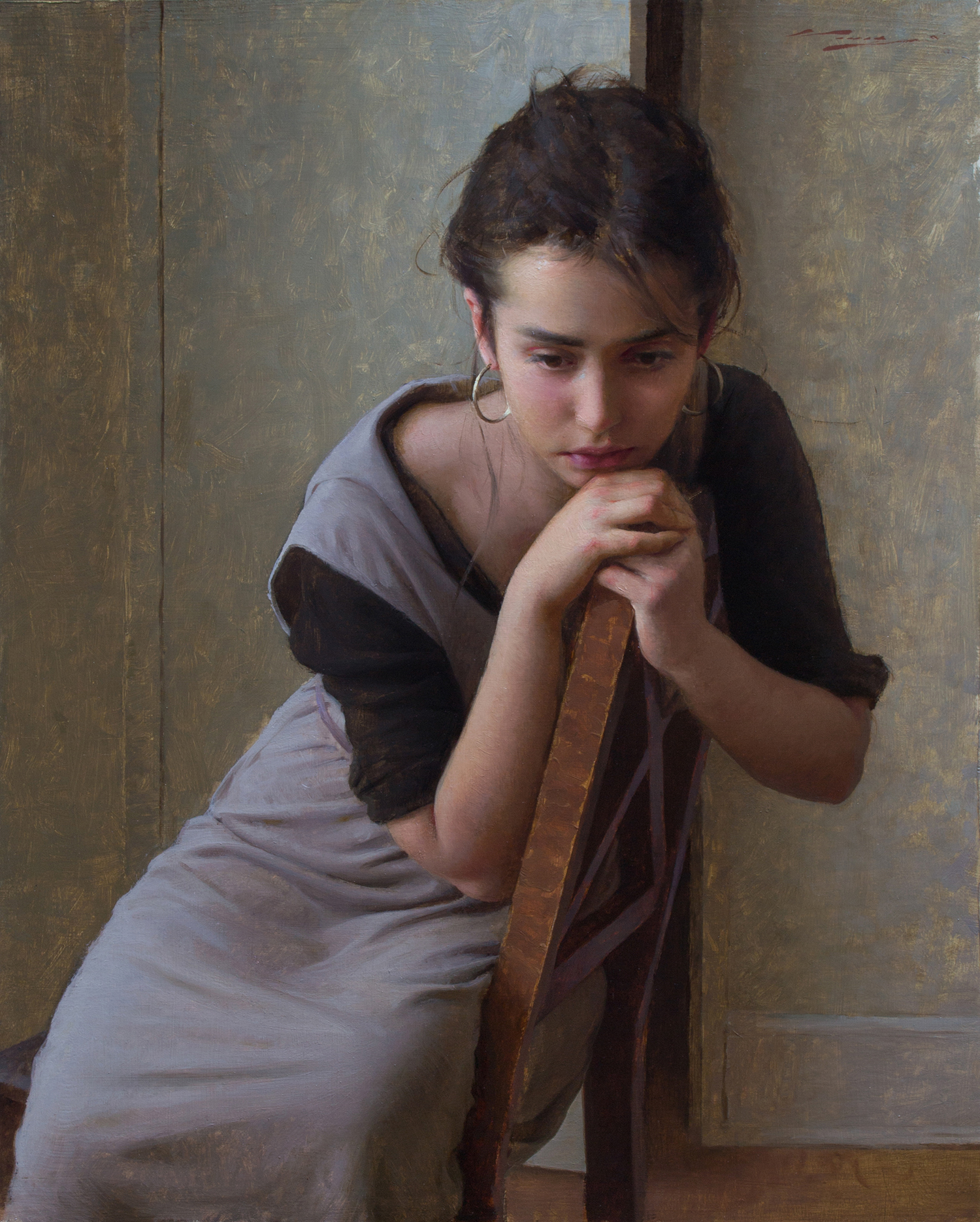 """Haunting"" takes home : 1st Place Painting & People's Choice Award at The 2019 Portrait Society of America's -""International Portrait Competition"" -"