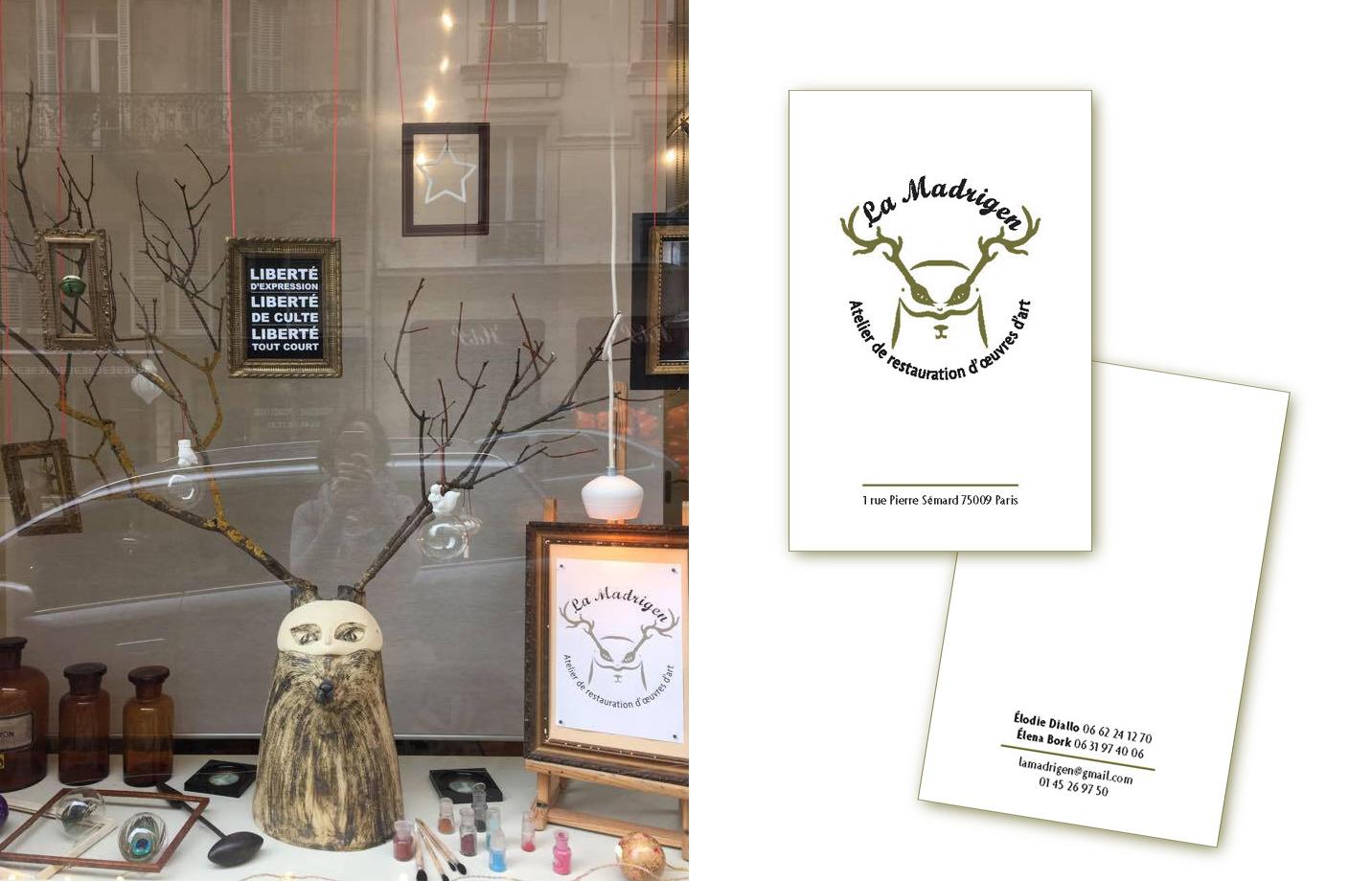 Logotype - Carte de visite - Mascotte sculpture en céramique