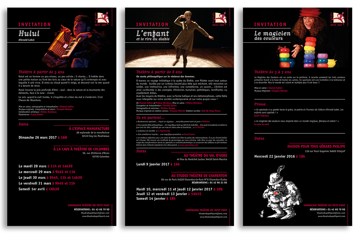 Logotype / papeterie / plaquettes / flyers / mailing
