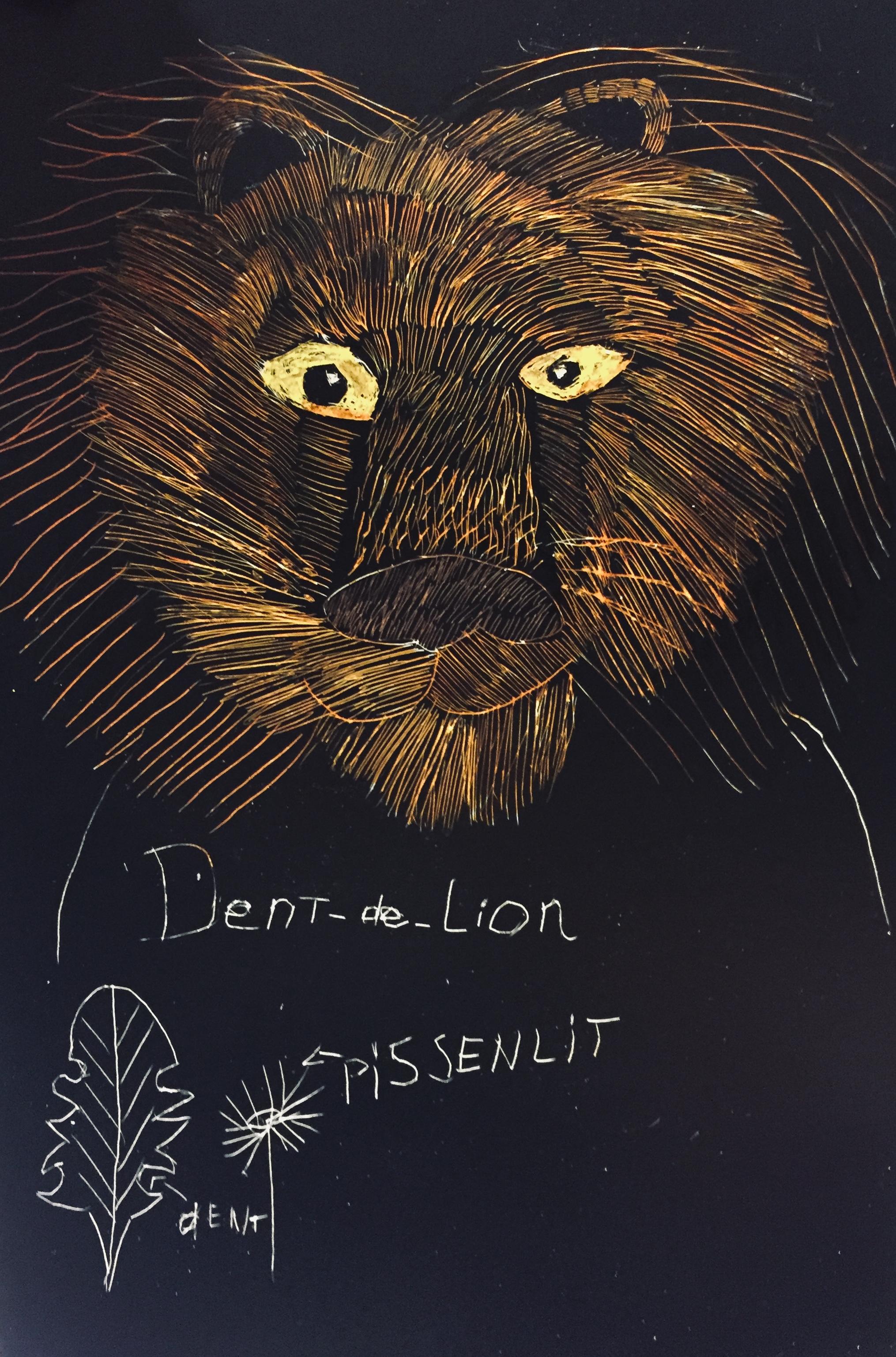 Association texte et image dent de lion