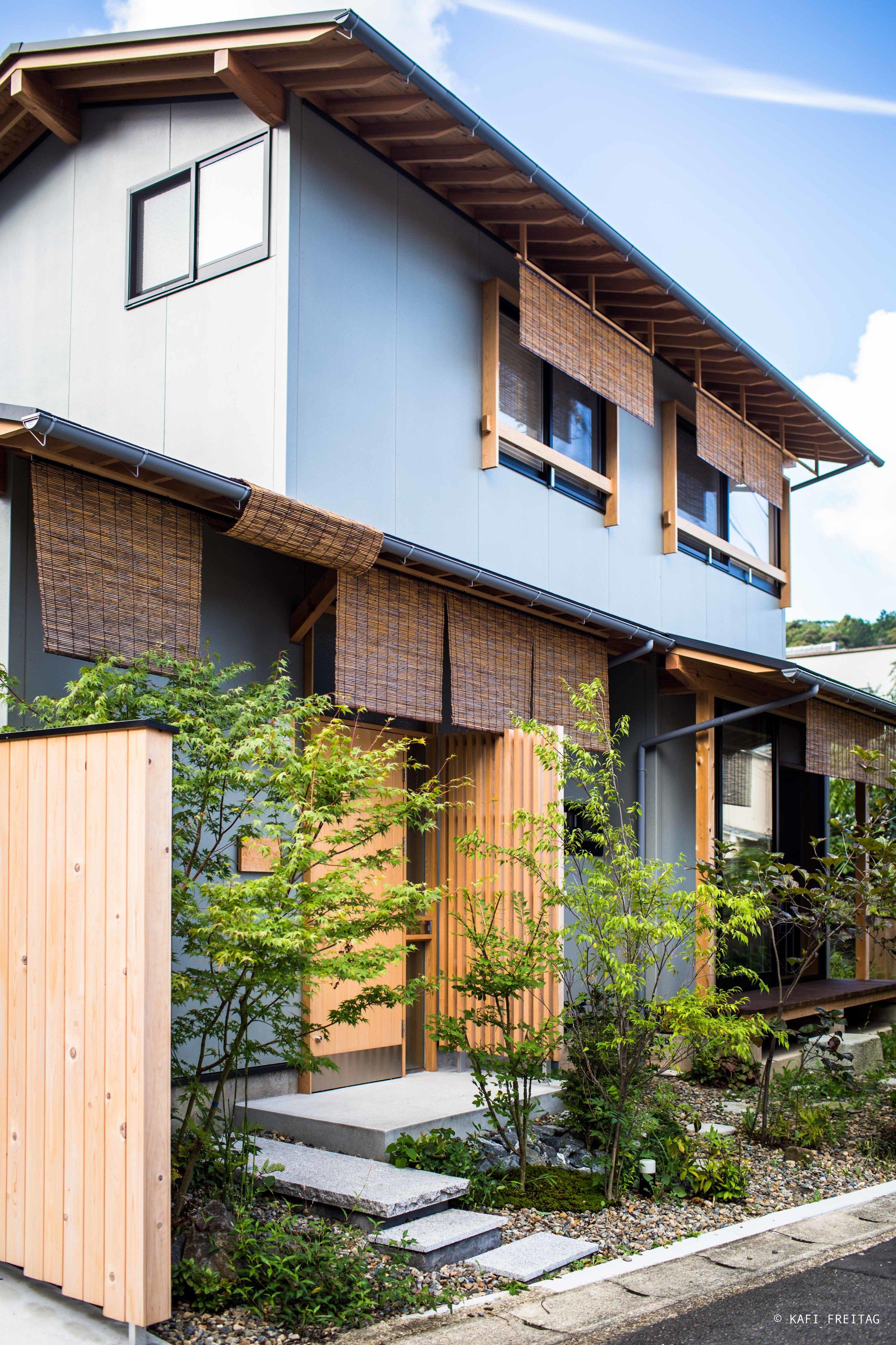 Freistehendes geräumiges Airbnb Häuschen in Kyoto.