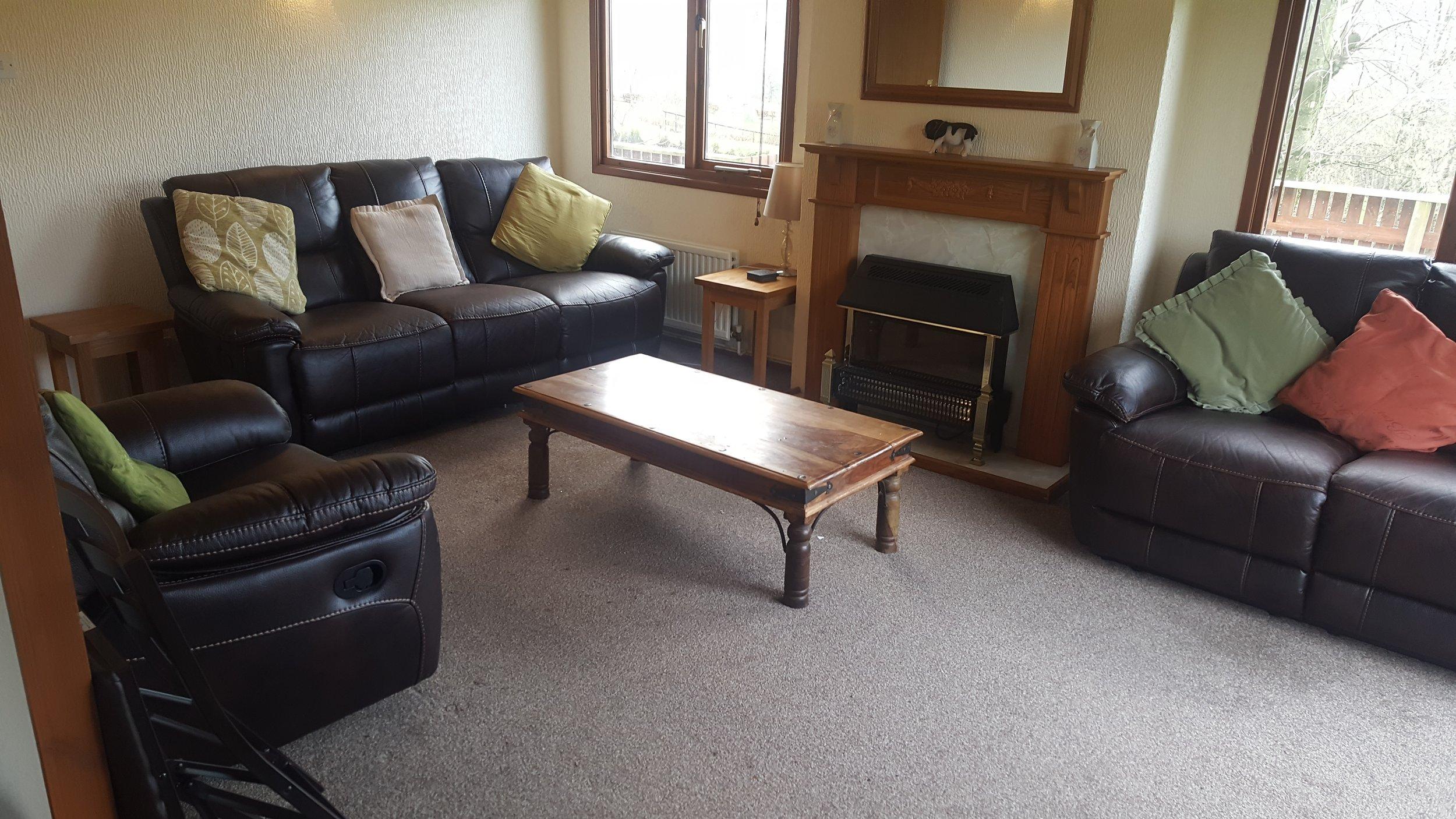 Living Room - Lodge Lorton Vale Caravans lortonvalecaravans.co.uk