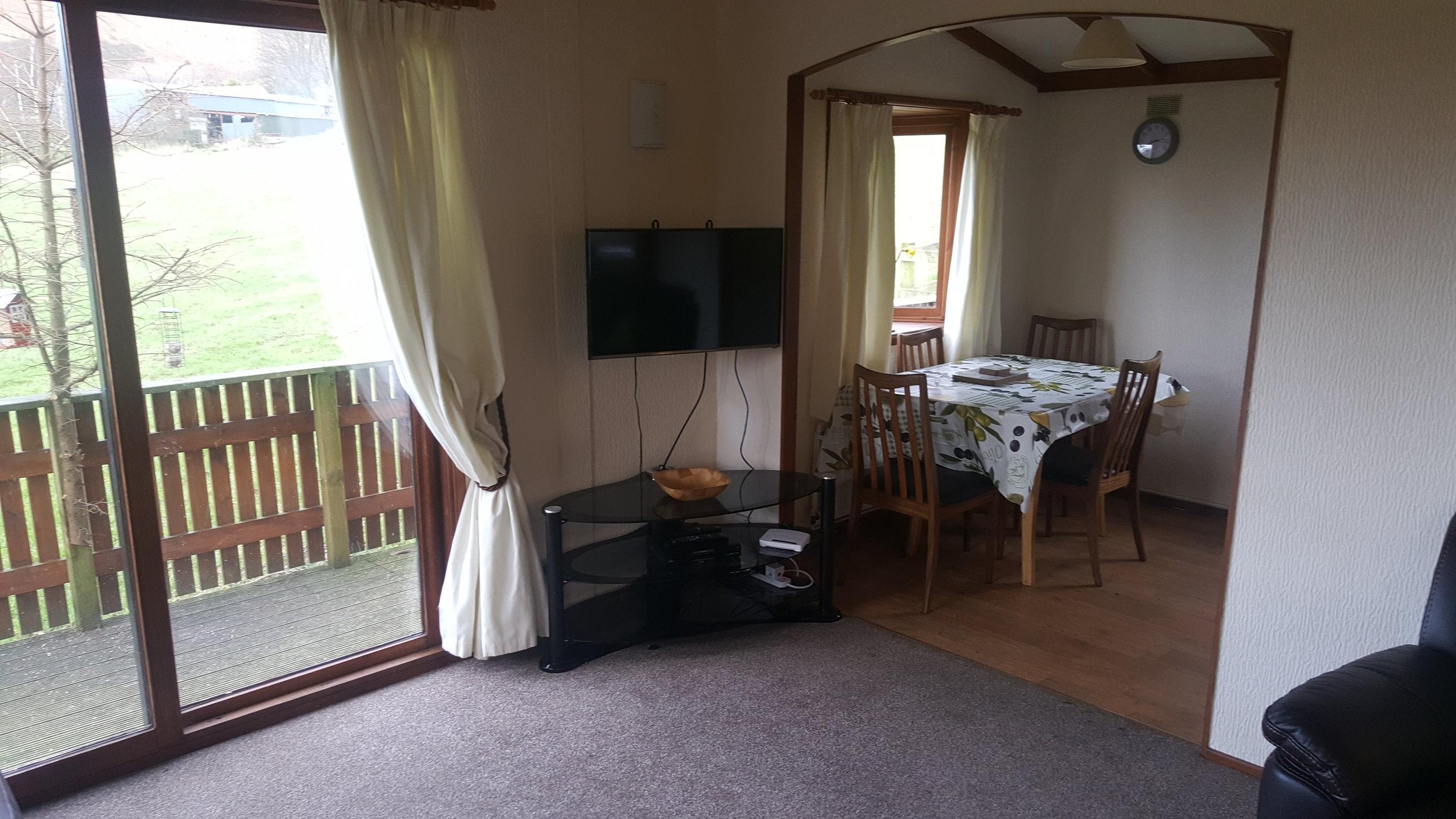 Living Room and Dining Room - Lodge Lorton Vale Caravans lortonvalecaravans.co.uk