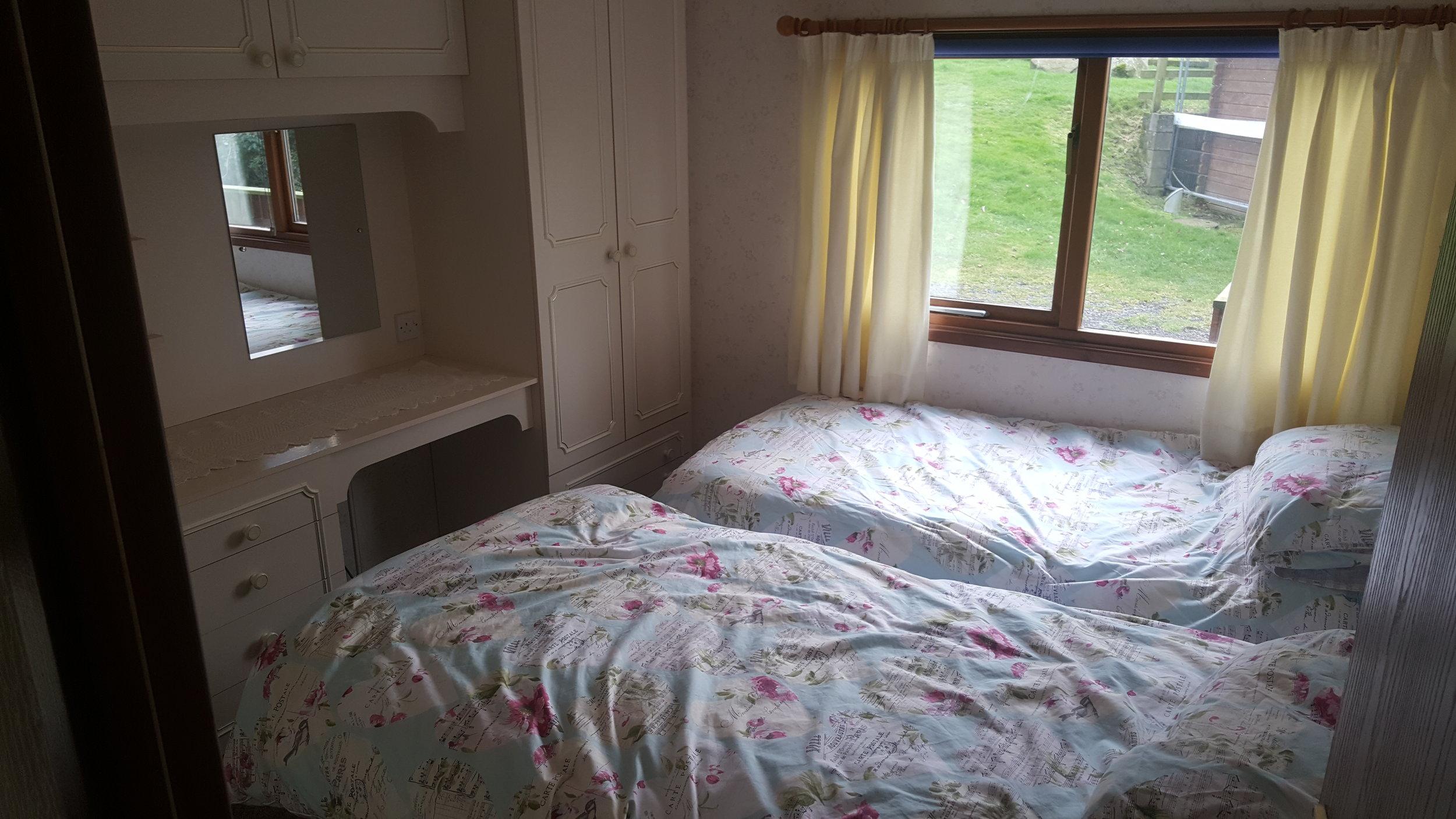 Twin Bedroom - Lodge Lorton Vale Caravans lortonvalecaravans.co.uk