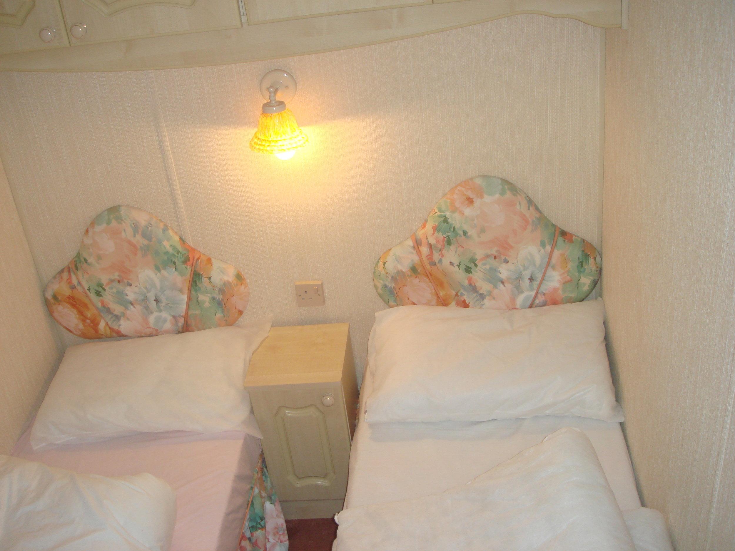 Twin bedroom - Caravan 1 Lorton Vale Caravans lortonvalecaravans.co.uk