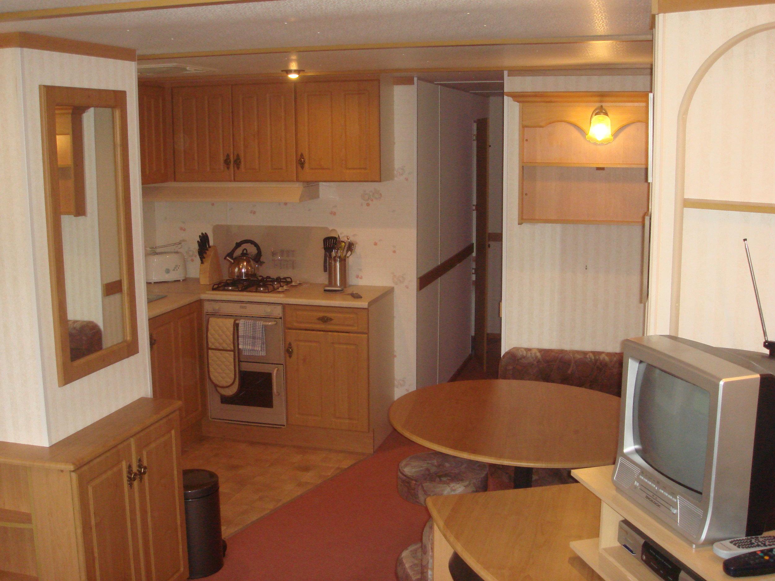 Kitchen and dining area - Caravan 2 Lorton Vale Caravans lortonvalecaravans.co.uk