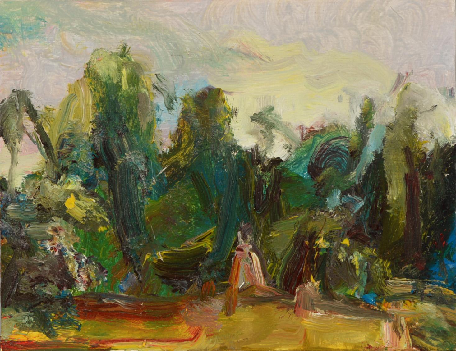 """Tree Stump"" oil on panel  2015  6.5""x8"""