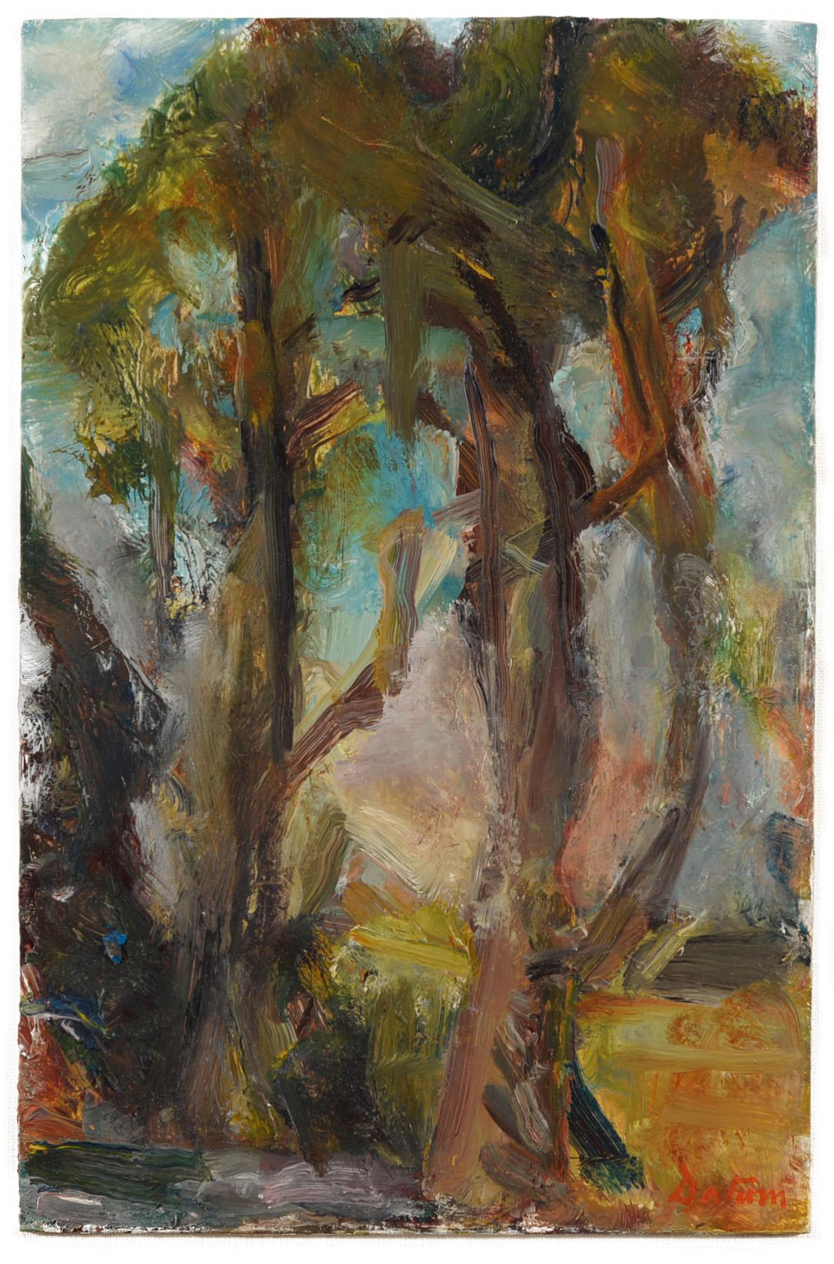 """Pines"" oil on panel  2015  6""x10"""