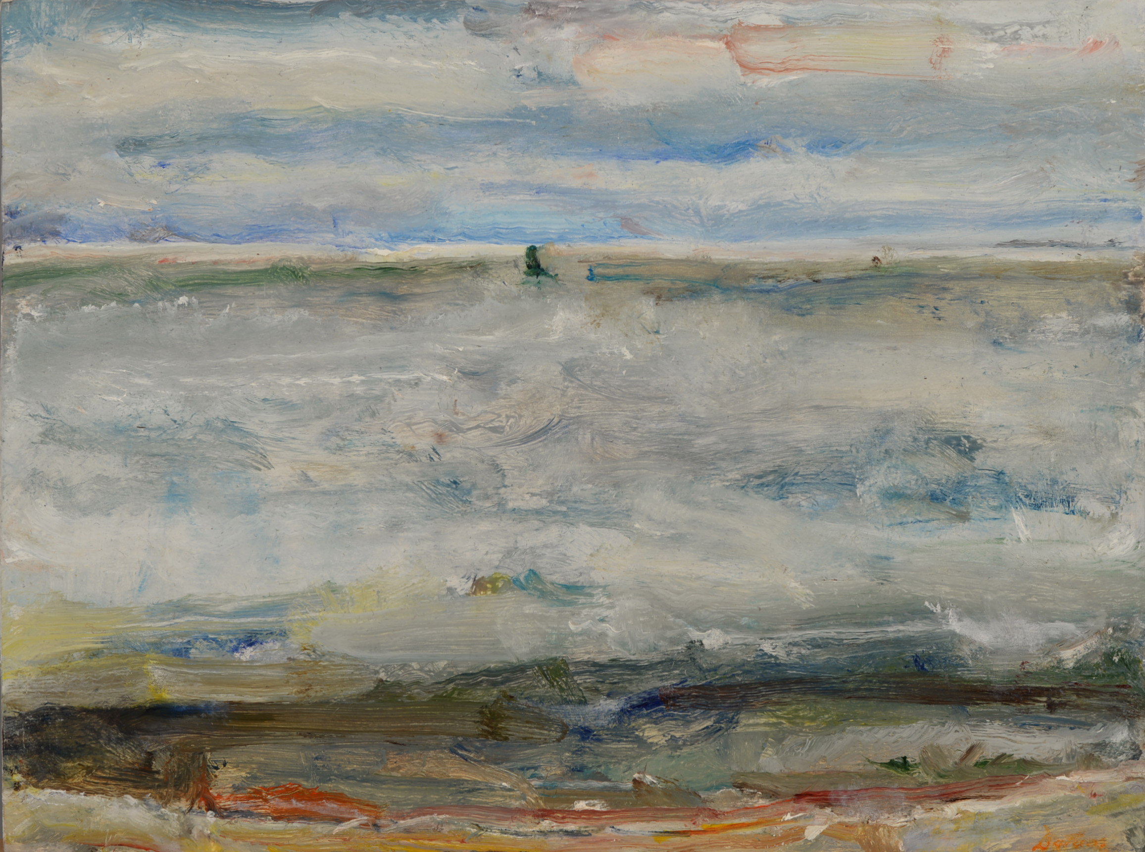 """""""Green Buoy"""" oil on panel  2014  10""""x12"""""""