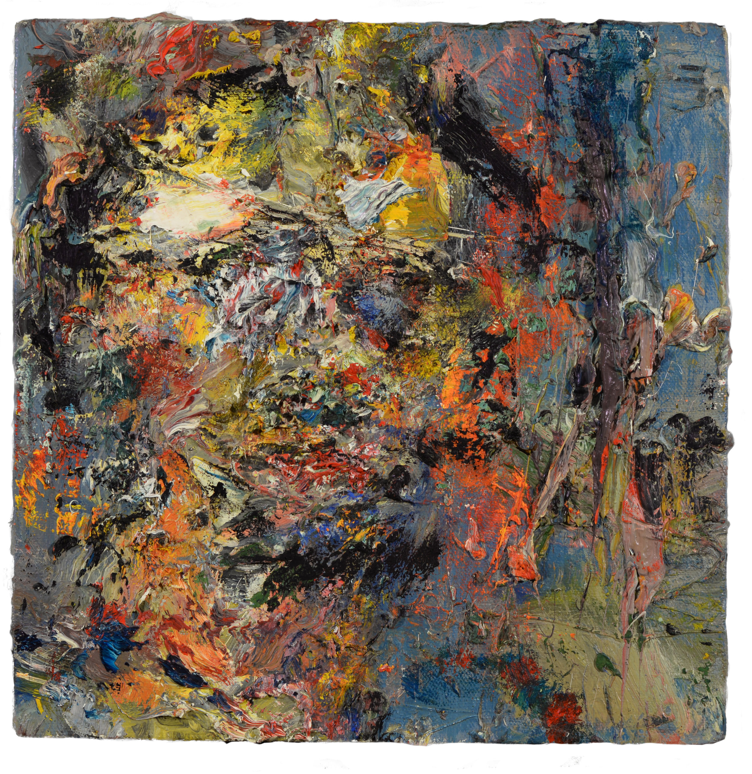 """Self Portrait"" oil on canvas  1994  10""x10"""