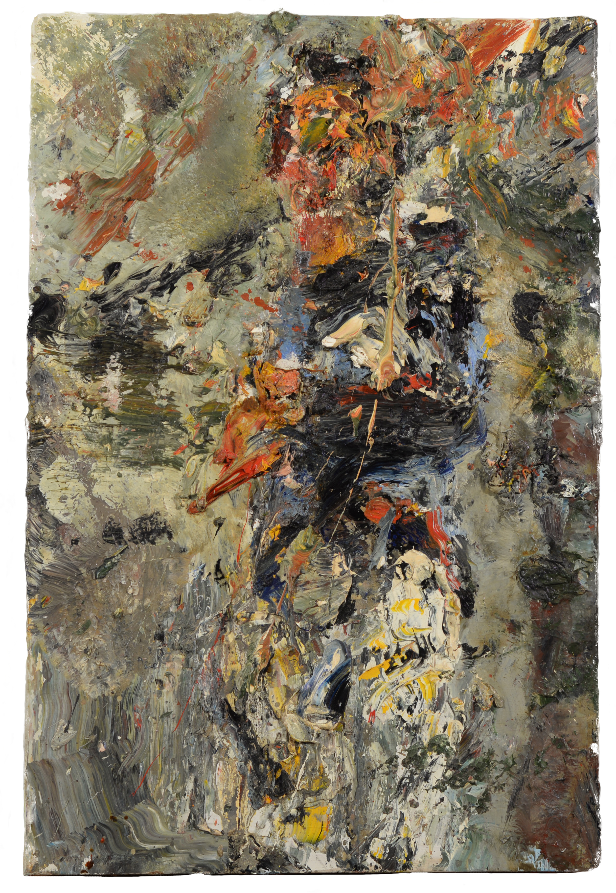 """Self Portrait Standing"" oil on panel  1995  18""x12"""