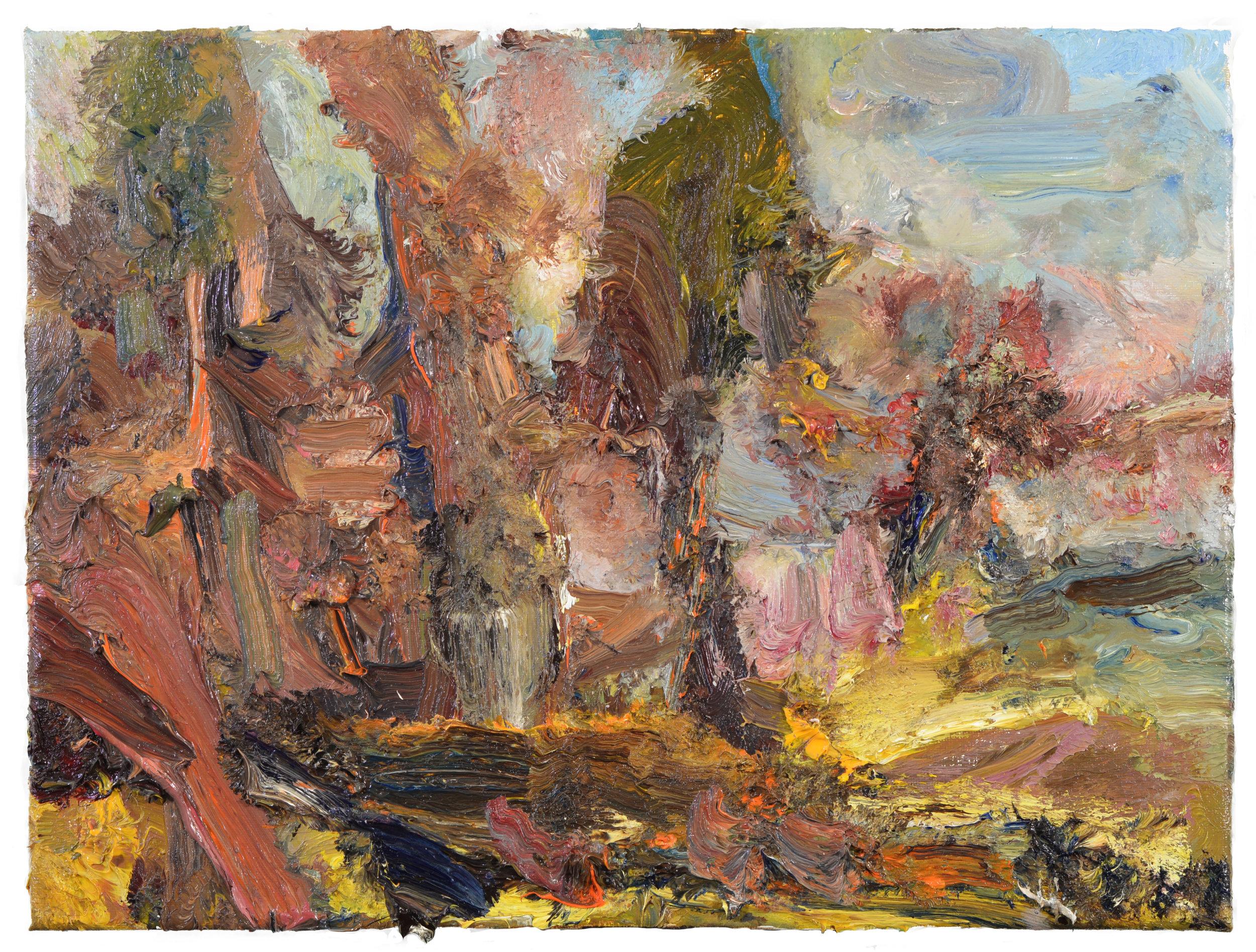 """""""Sunlit Driveway"""" oil on canvas  2017  11'x14"""""""