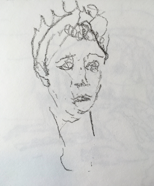"""Livia Drusilla"" crayon on paper  2017  6""x6"""