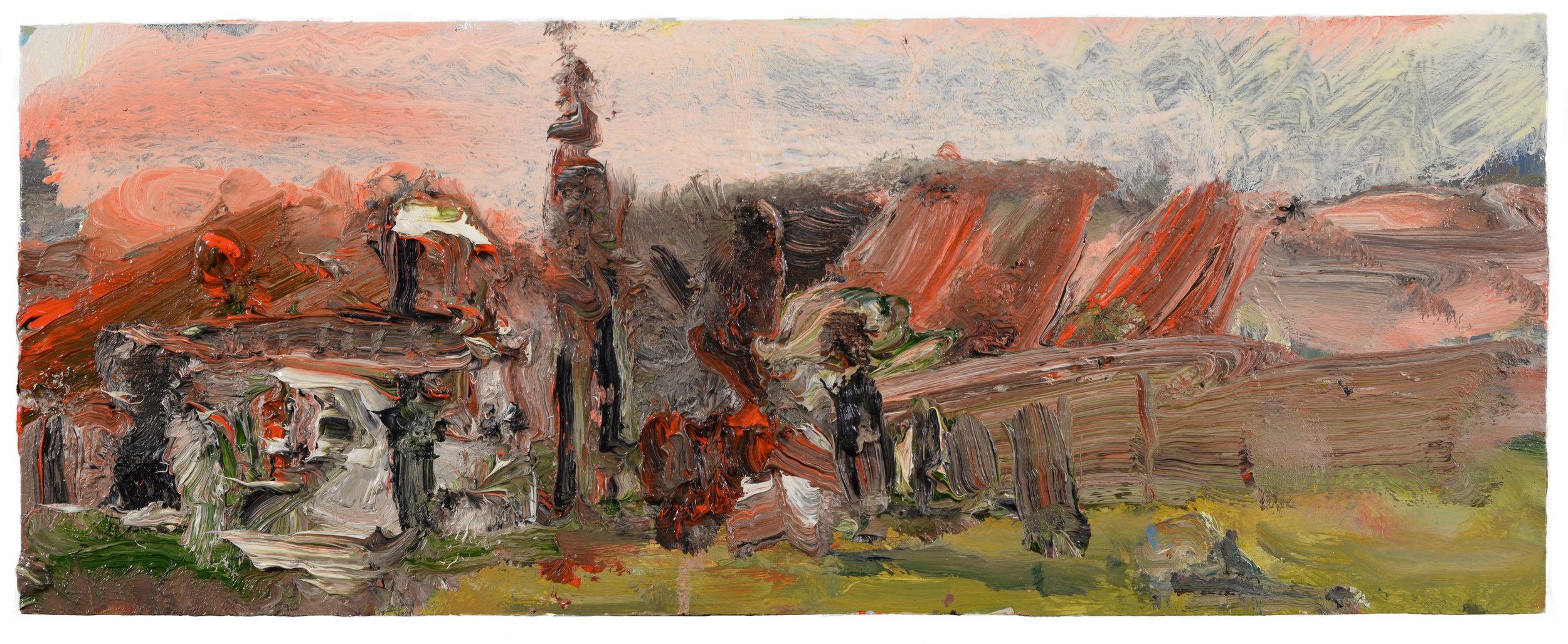 """""""Landscape"""" oil on panel  2017"""
