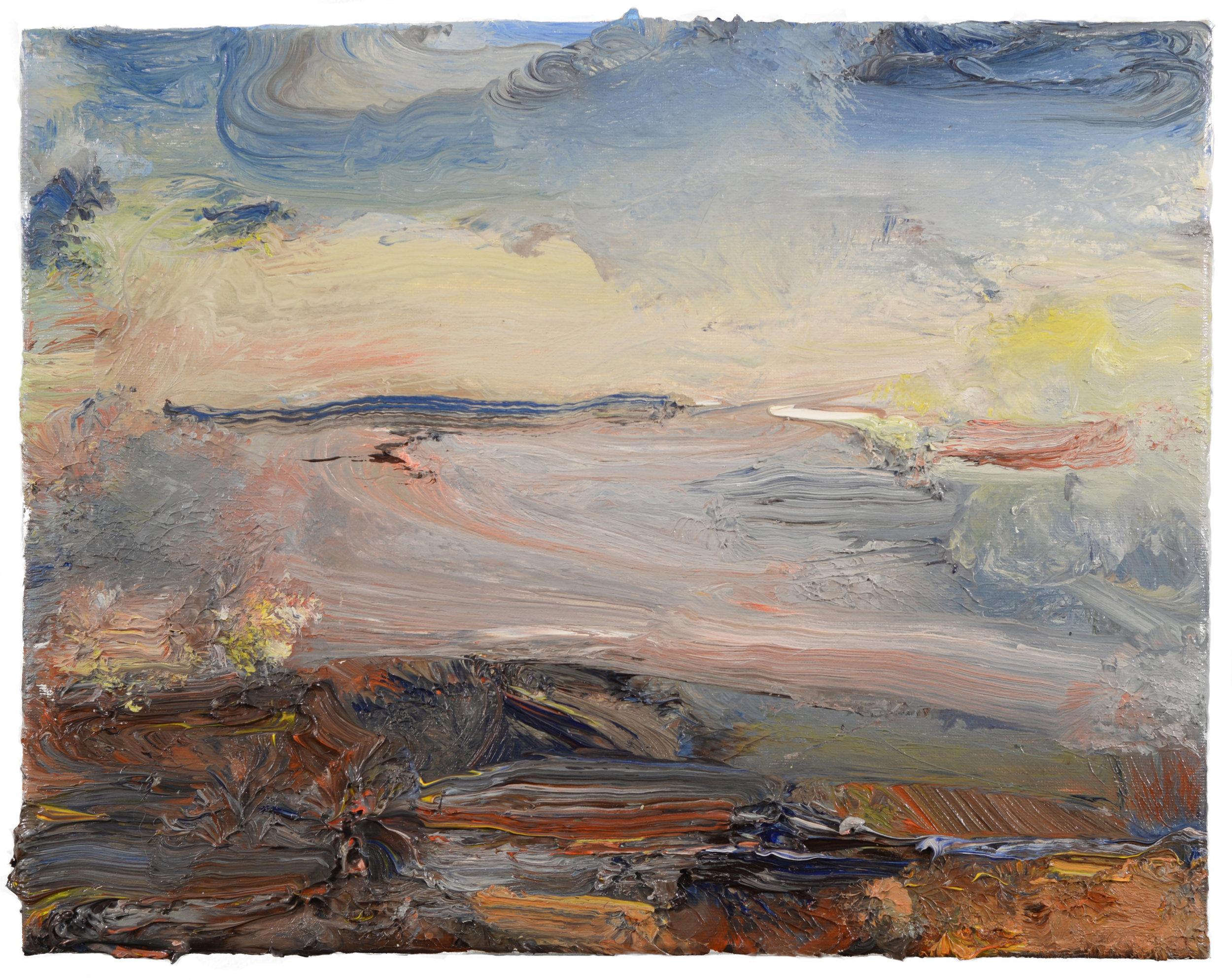 """""""Old Colony Beach"""" oil on canvas  2017  11""""x14"""""""