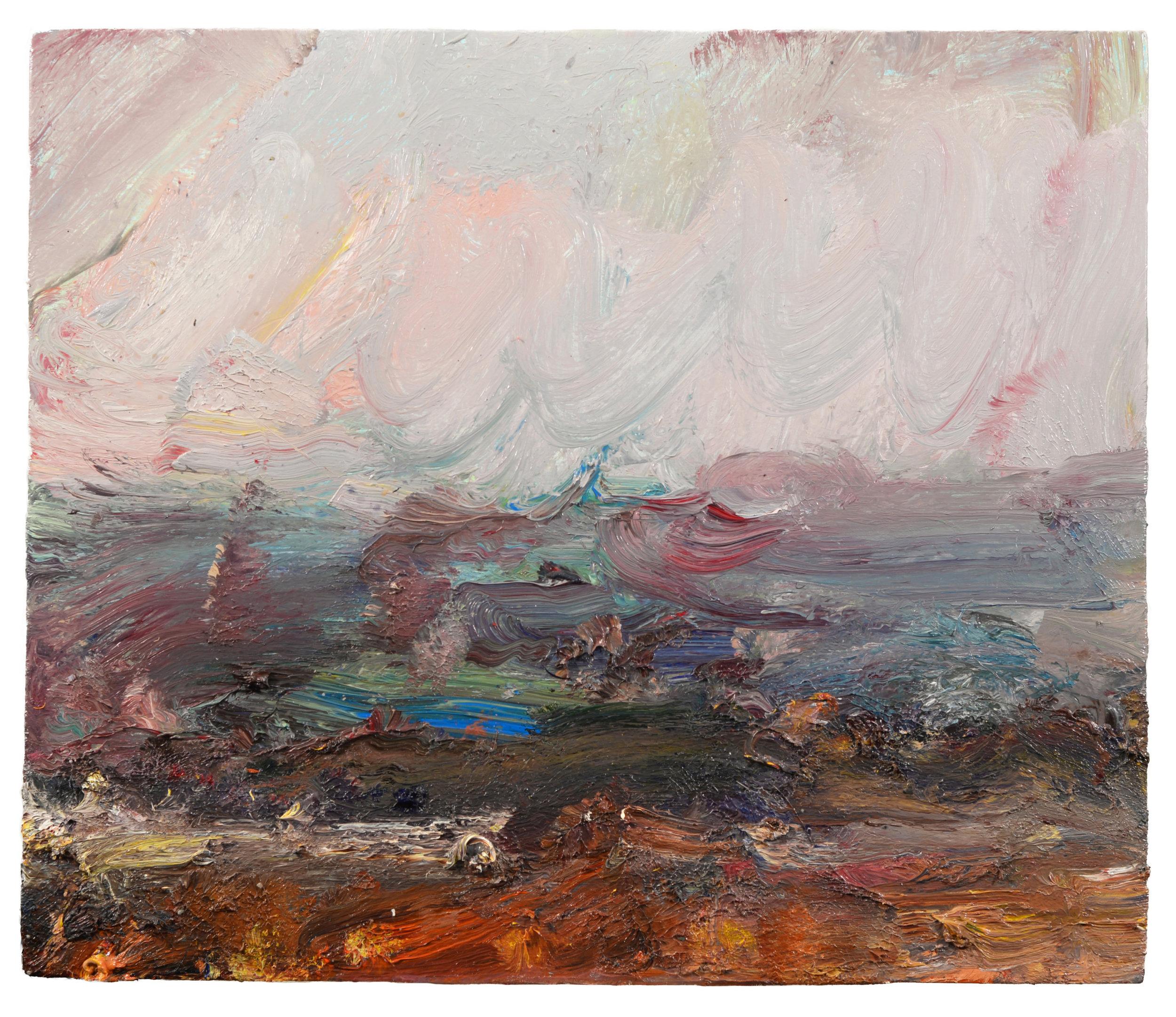"""Old Colony Beach"" oil on panel 2017 16""x 19"""