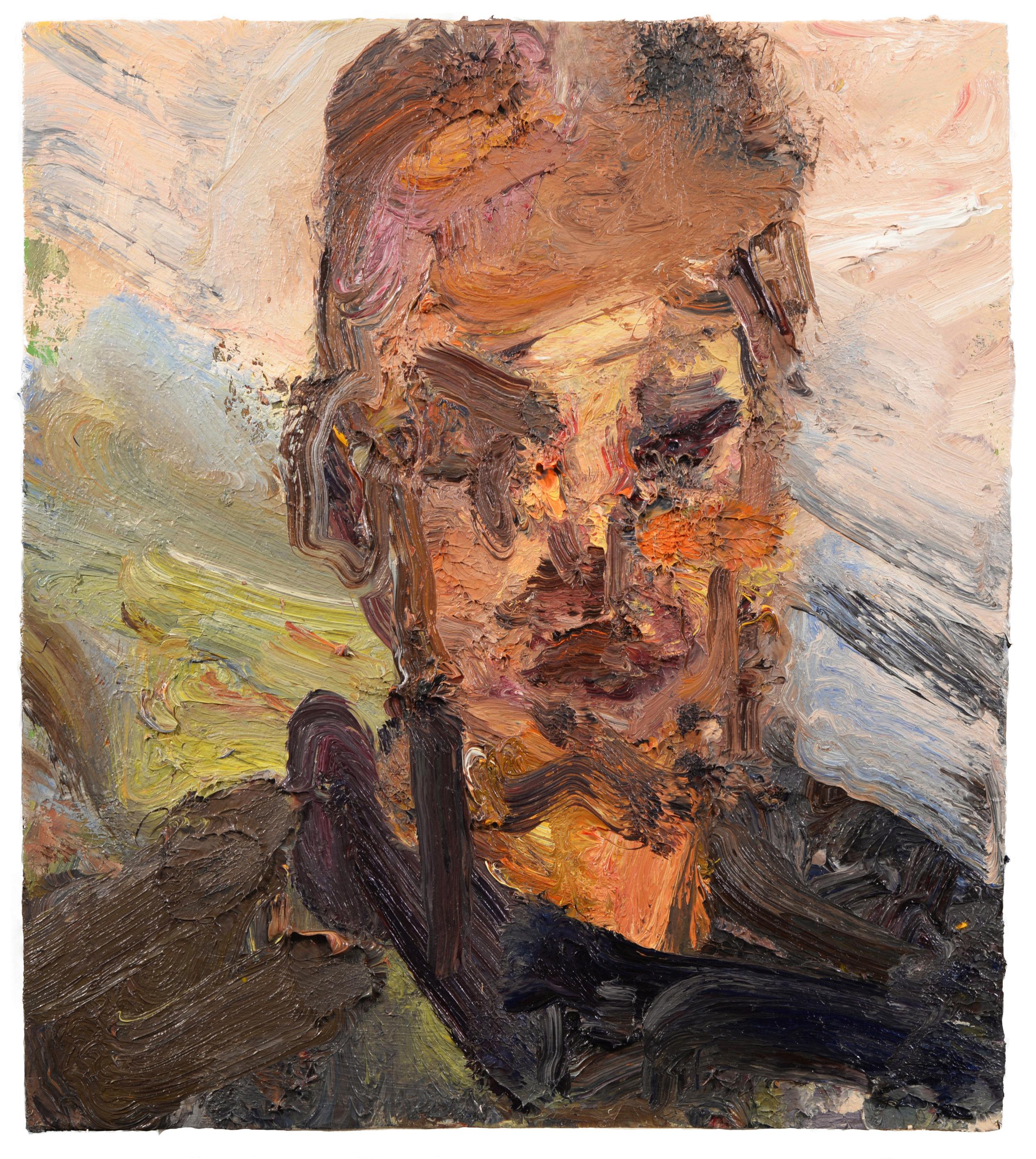 """""""Head of Skev"""" oil on panel 2017  18x 16"""""""