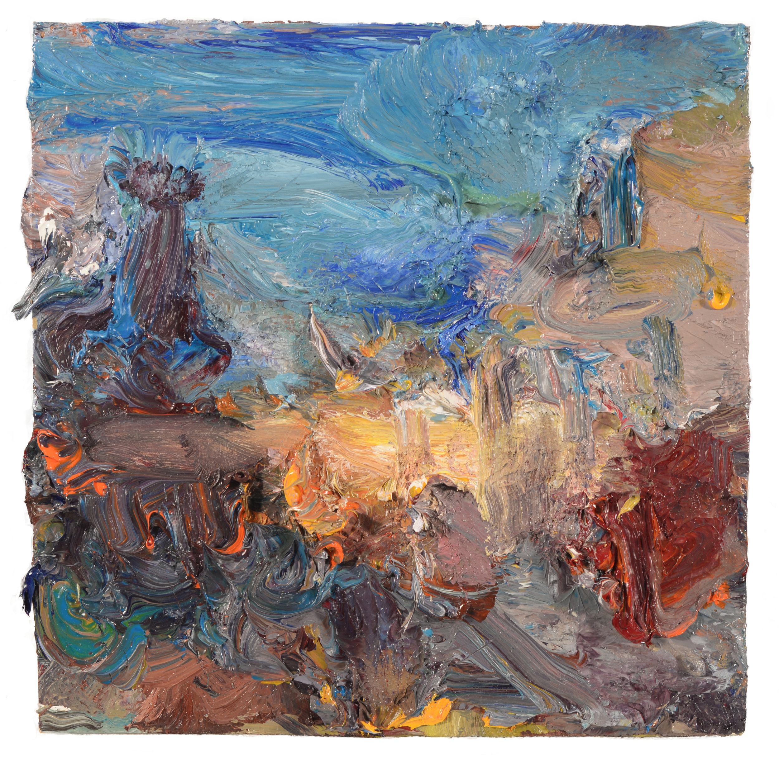"""Beach Gate"" oil on panel  2017  8""x8"""