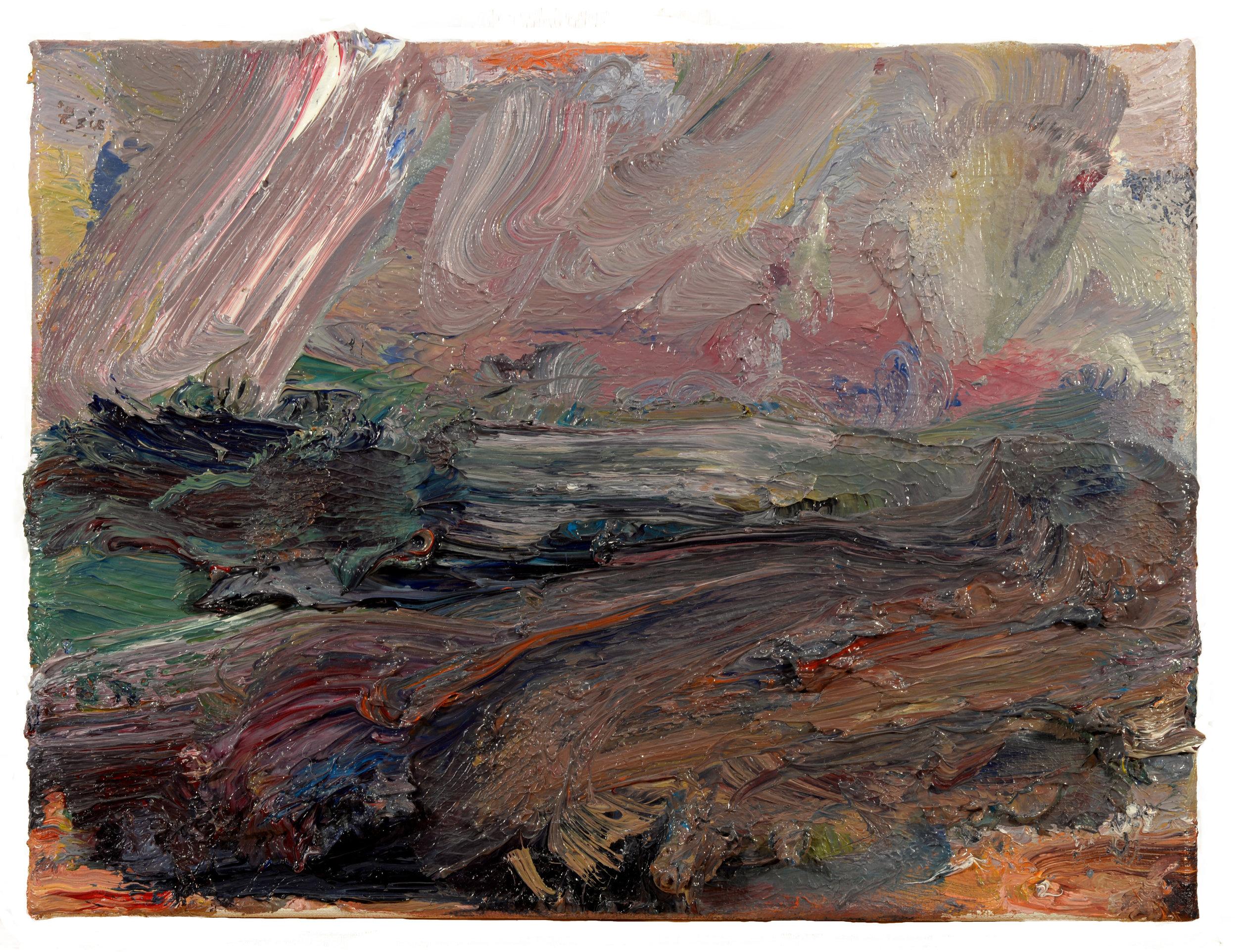 """""""Old Colony Beach""""  oil on canvas  2017 8""""x10"""""""