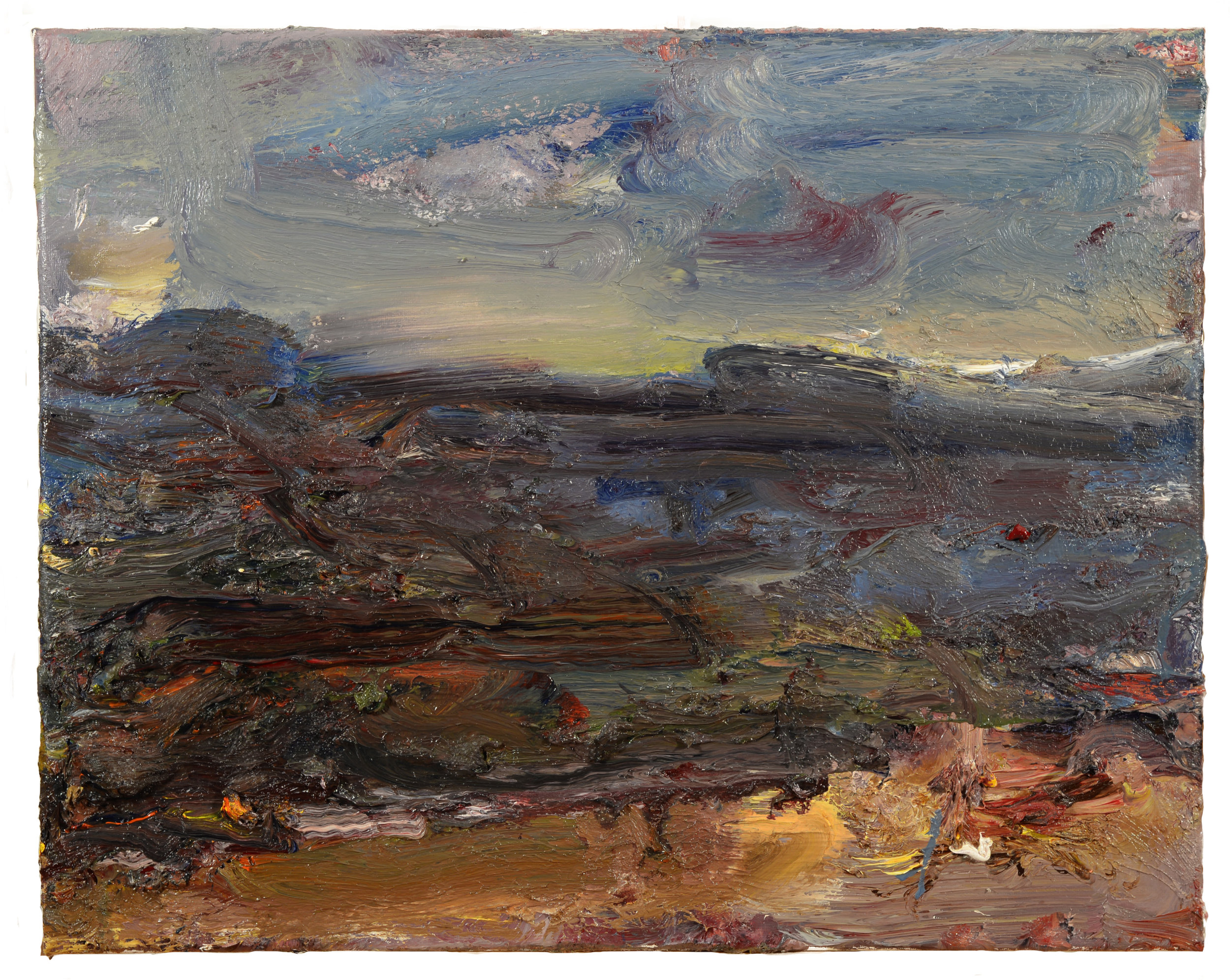 """Old Colony Beach"" oil on panel  2017"