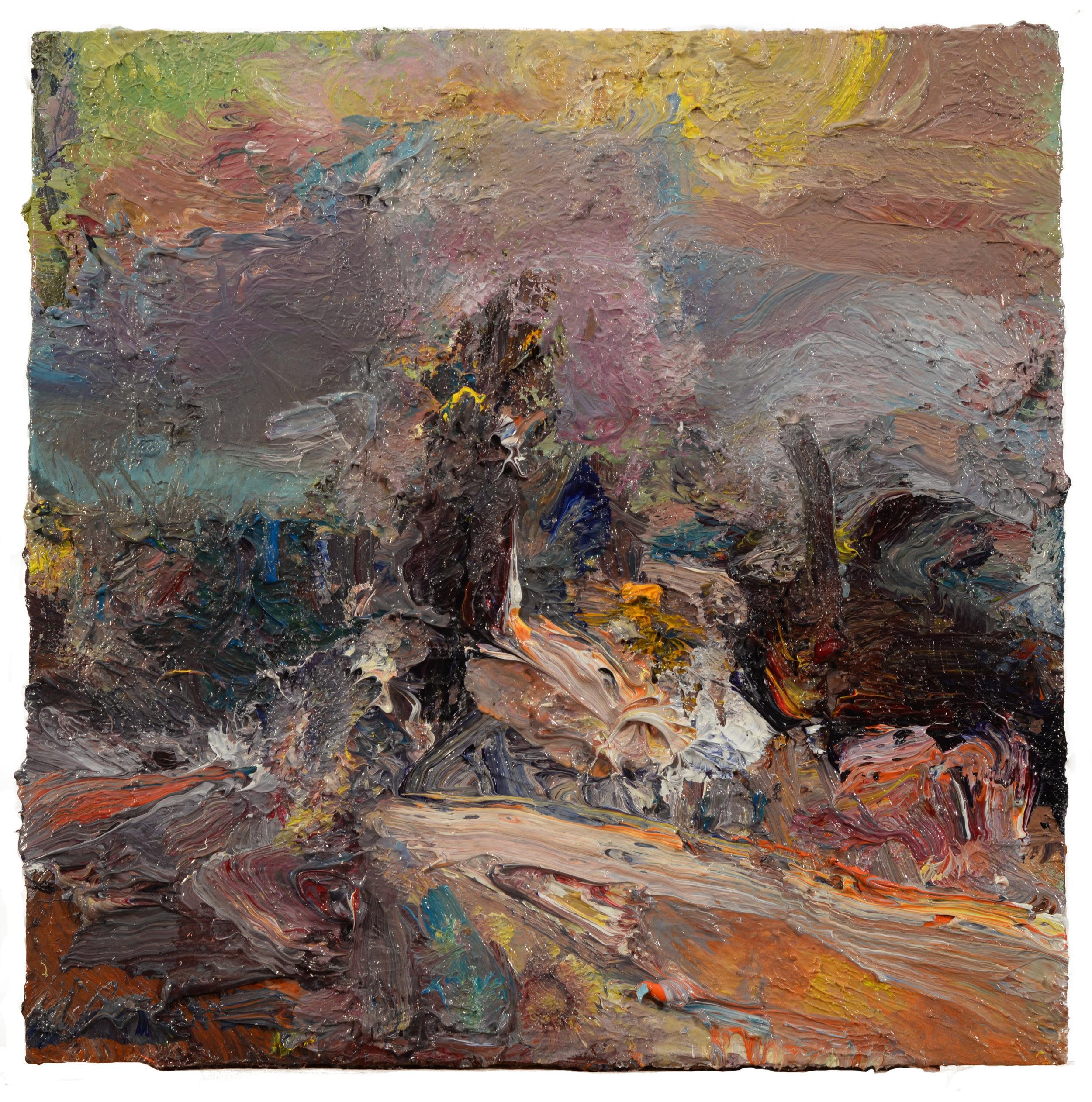 """Boat Yard"" oil on panel  2017"