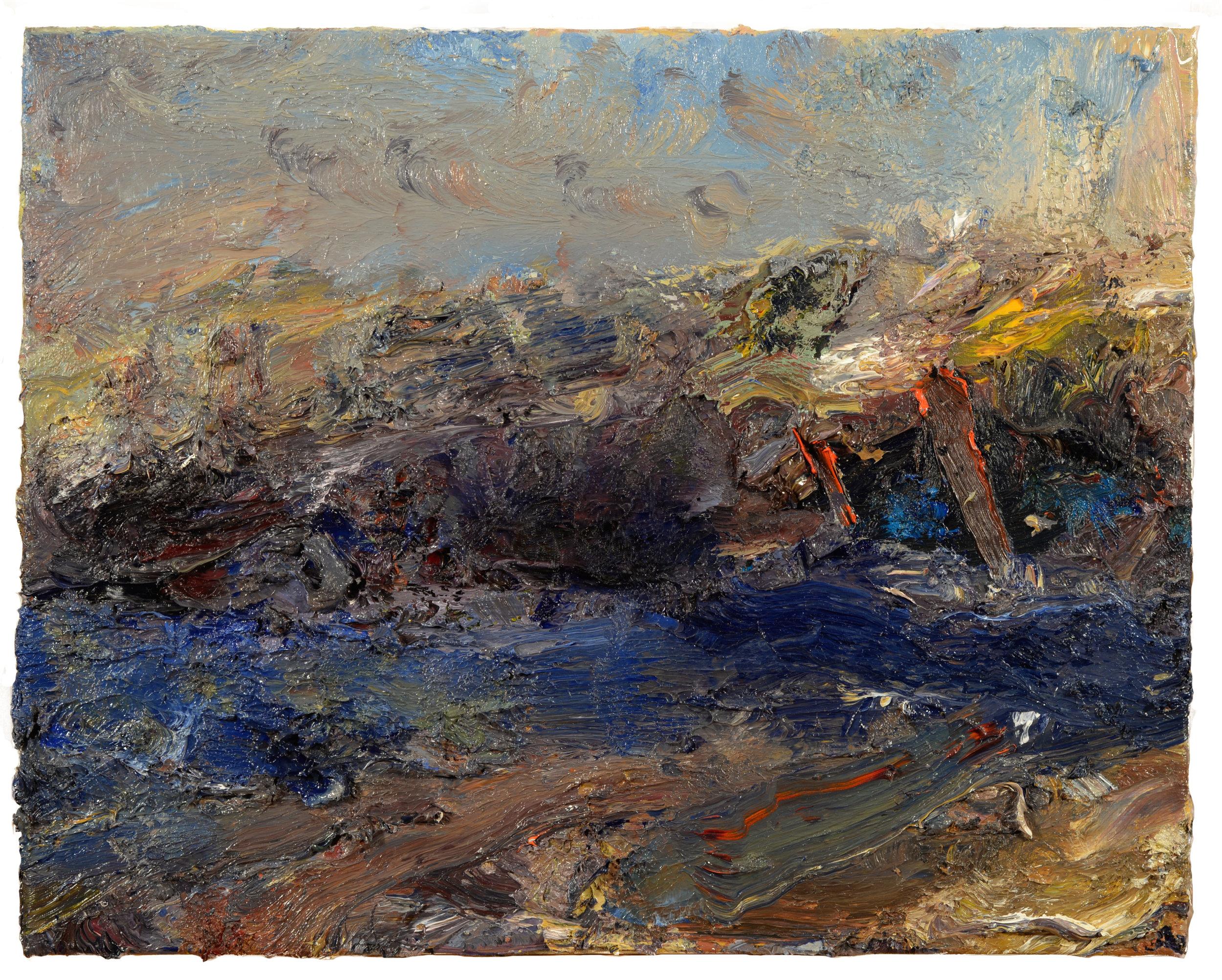 """""""Uncas Lake"""" oil on canvas  2017"""
