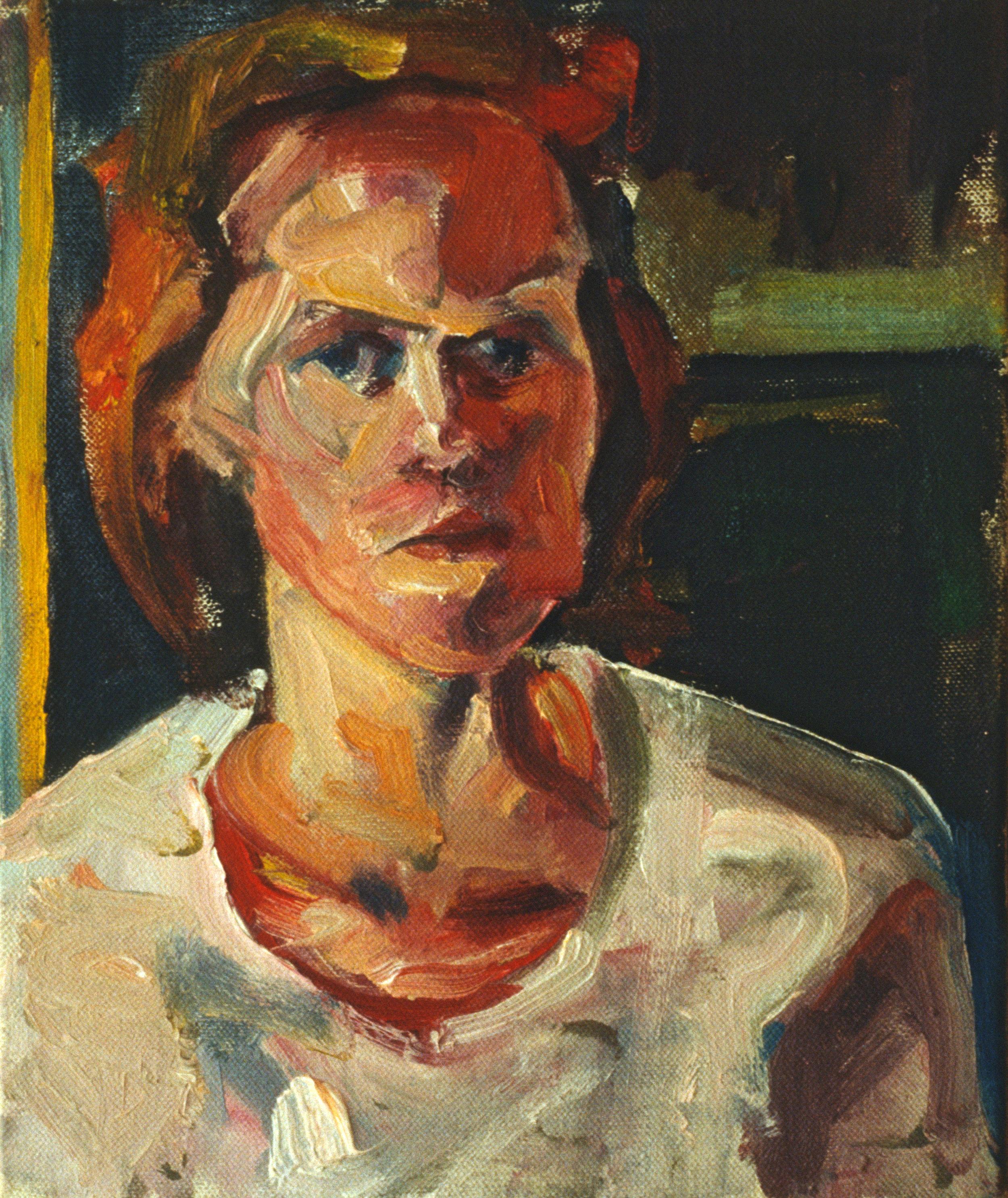 """""""Portrait"""" oil on canvas 1988  10""""x8"""""""