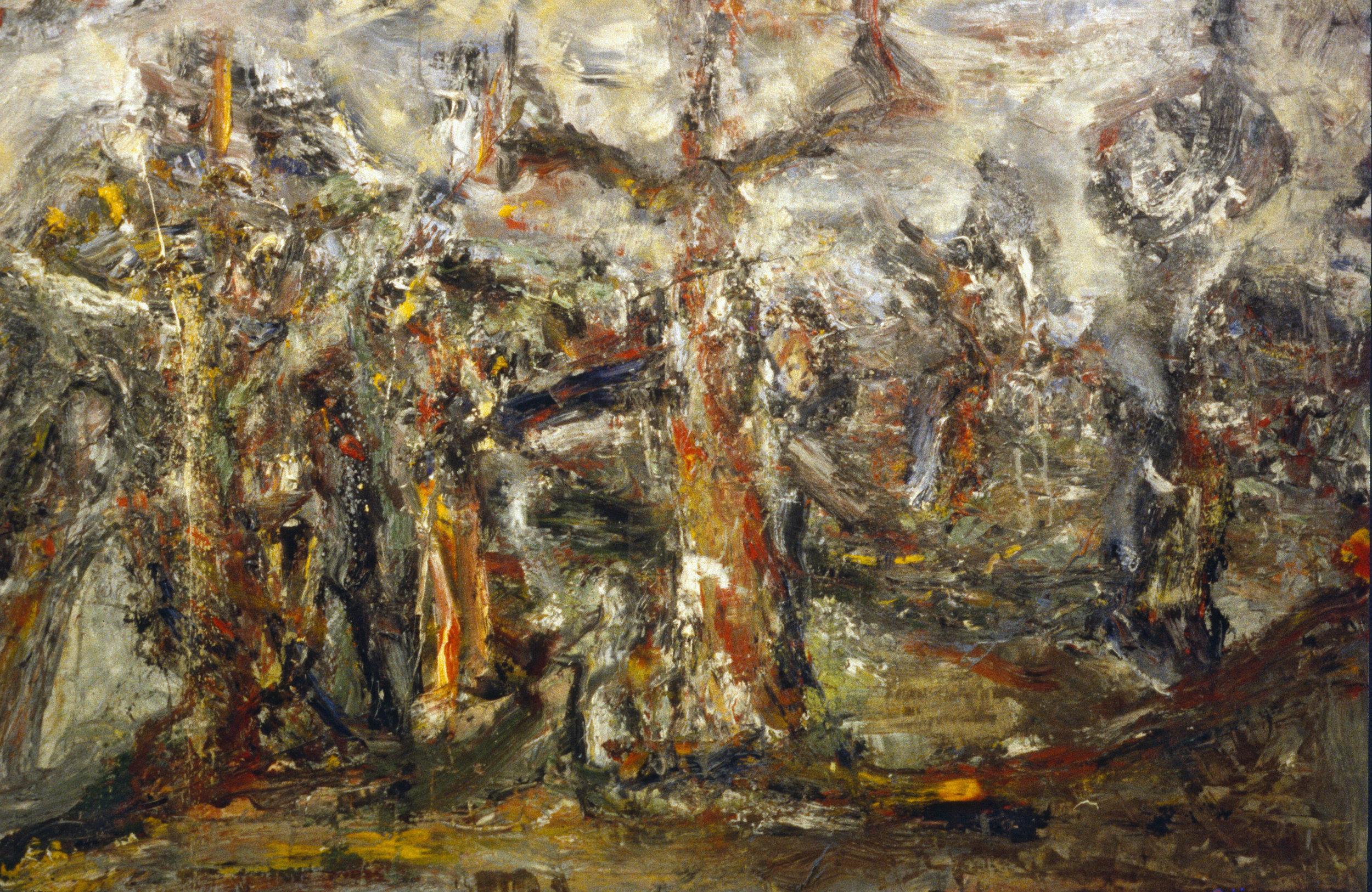 """Landscape"" oil on canvas 1993  20""x36"""
