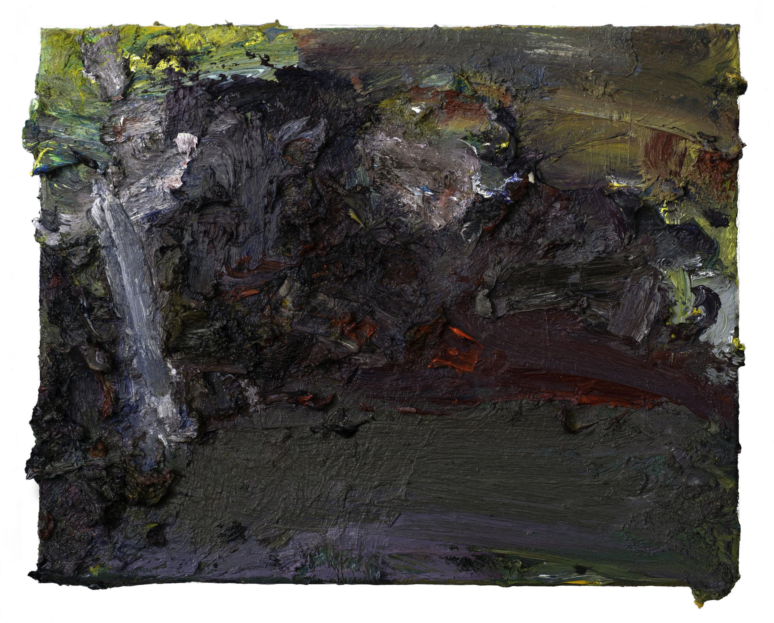 """Landscape""  oil on canvas 2019 16"" x 20"""