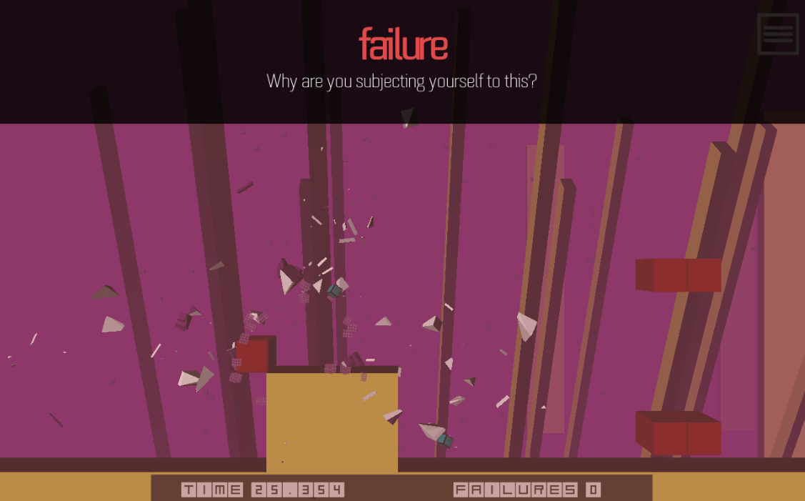 This is you, failing.