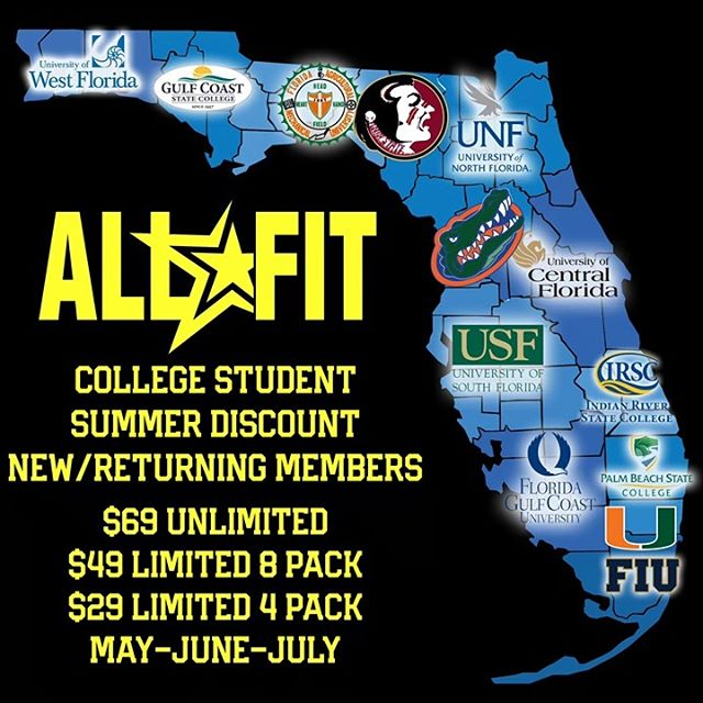 Welcome home #collegestudents. Stay active this summer with discount memberships at all locations. Dm us or visit us in gym with your student ID and receive these discounted rates for May, June, and July. #gymorlando #orlandoaf #centralflorida #orlando