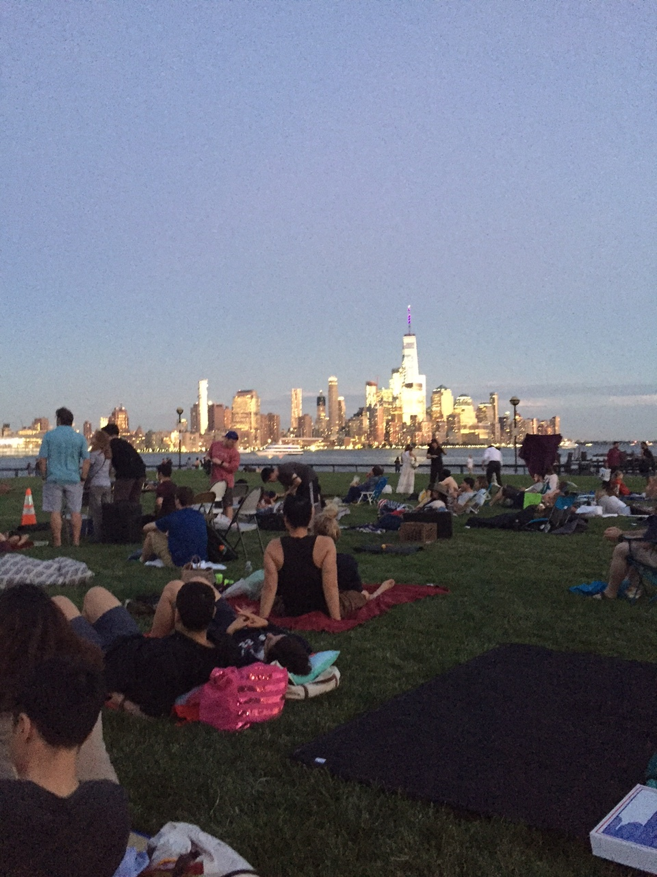 The view of Manhattan from Hoboken (where Jess now lives).